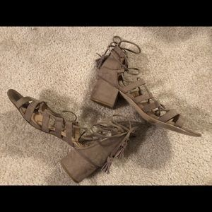 Lightly Worn Madden Girl Lace-Up Sandals